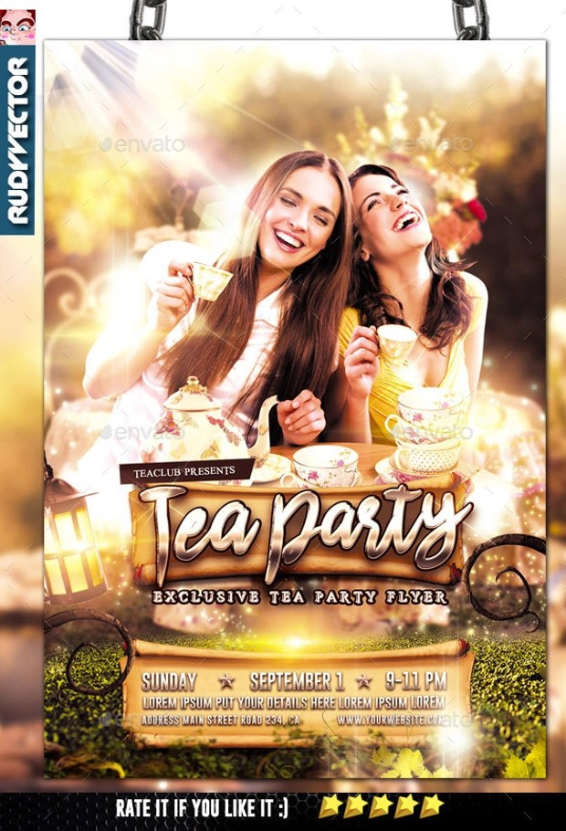 25 Tea Party Invitation Designs  Word PSD AI  Design Trends  Premium PSD Vector Downloads