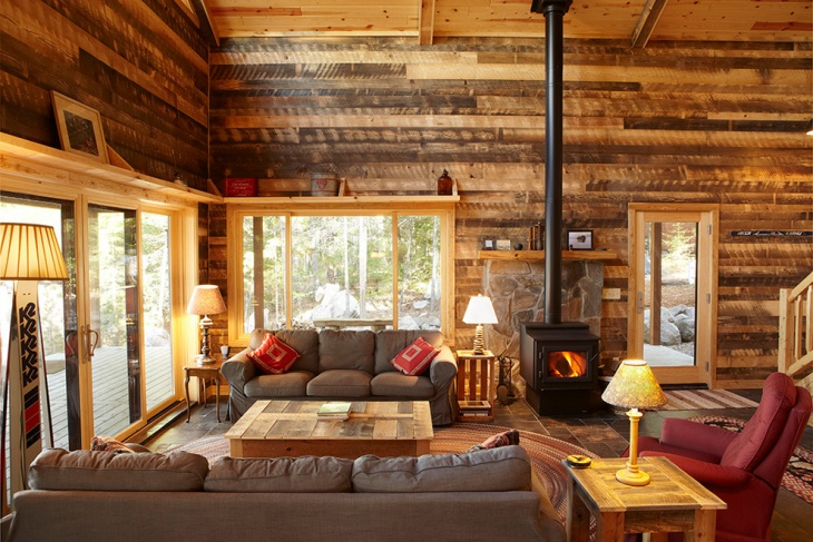 20+ Cabin Living Room Designs, Ideas