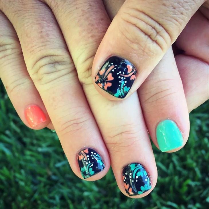 20+ Hibiscus Nail Art Designs, Ideas