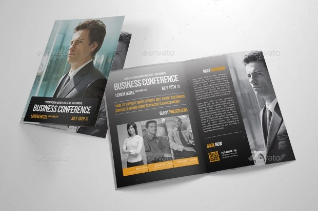 20 Conference Brochures Free PSD AI InDesign Vector