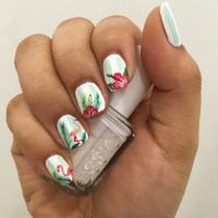 20+ Hibiscus Nail Art Designs, Ideas
