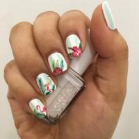 20+ Hibiscus Nail Art Designs, Ideas | Design Trends ...