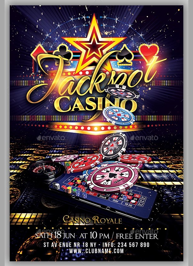 18 Casino Flyer Templates  Printable PSD AI Vector EPS