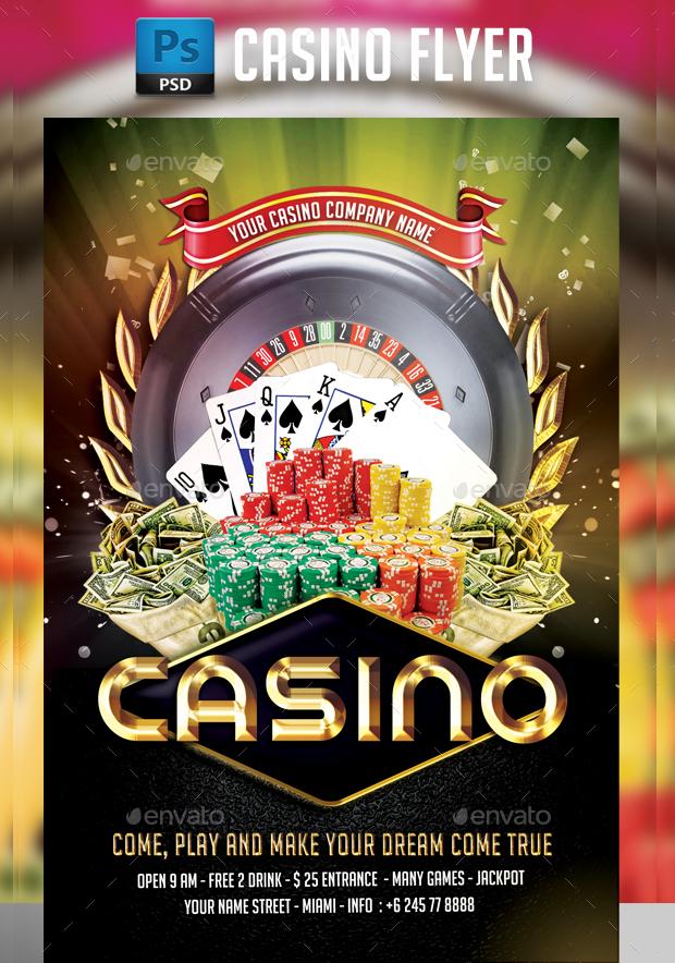 18 Casino Flyer Templates Printable PSD AI Vector EPS