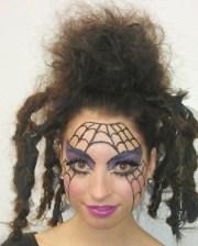spider web makeup design