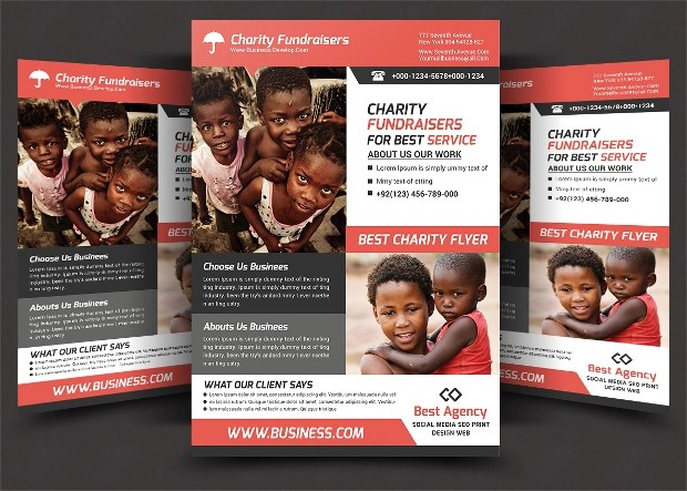 20 Charity Flyer Templates Printable PSD AI Vector