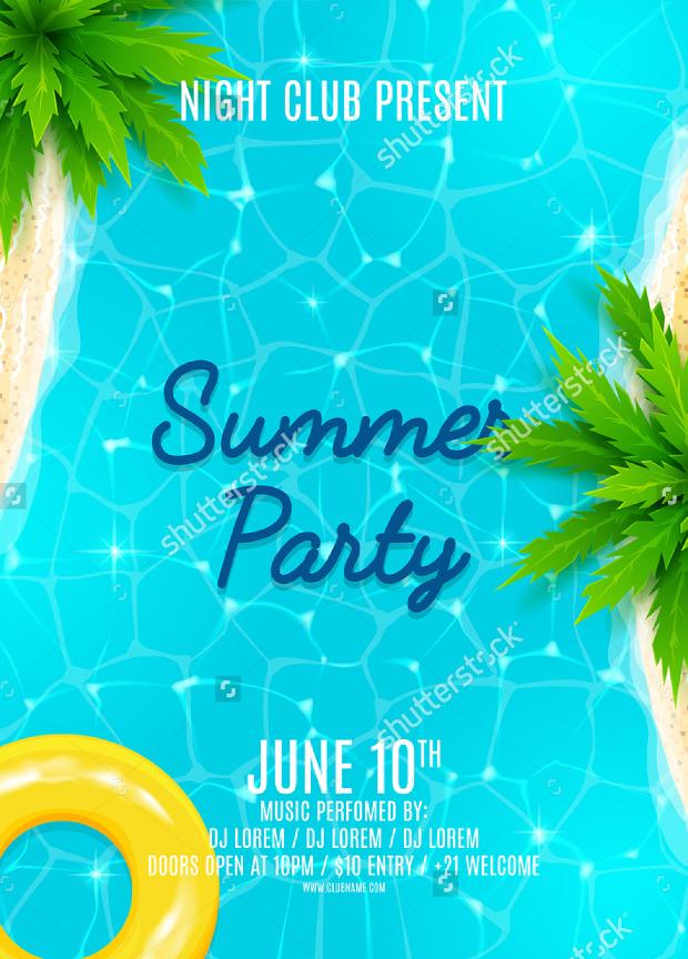 27 Summer Party Flyer Templates  PSD AI Vector EPS  Design Trends  Premium PSD Vector