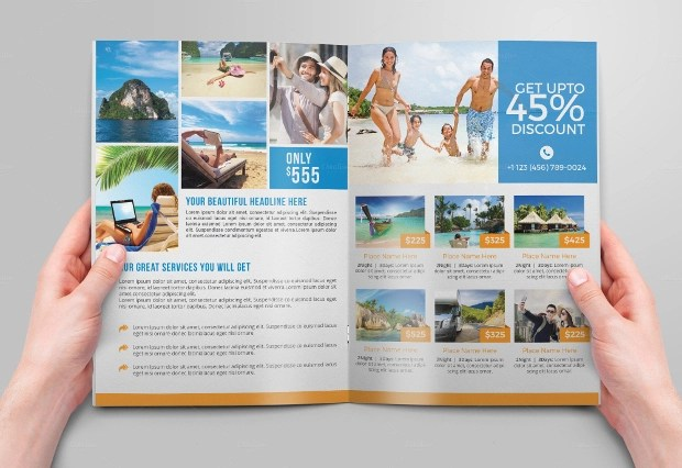 18 Travel Agency Brochures Free PSD AI InDesign