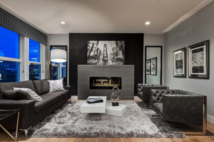 modern sofa colors grey chaise lounge 18+ masculine living room designs | design trends ...
