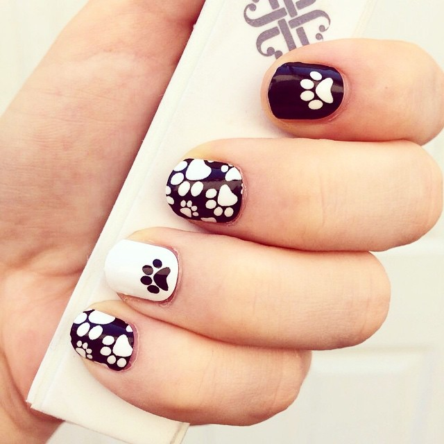 Paw Nail Art For Short Nails