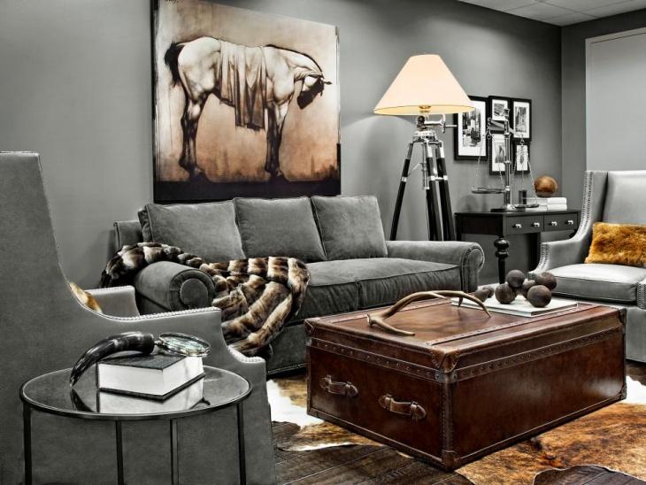 18 Masculine Living Room Designs  Design Trends