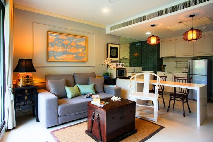 white couch living room ideas black furniture decorating 20+ open kitchen designs, | design ...