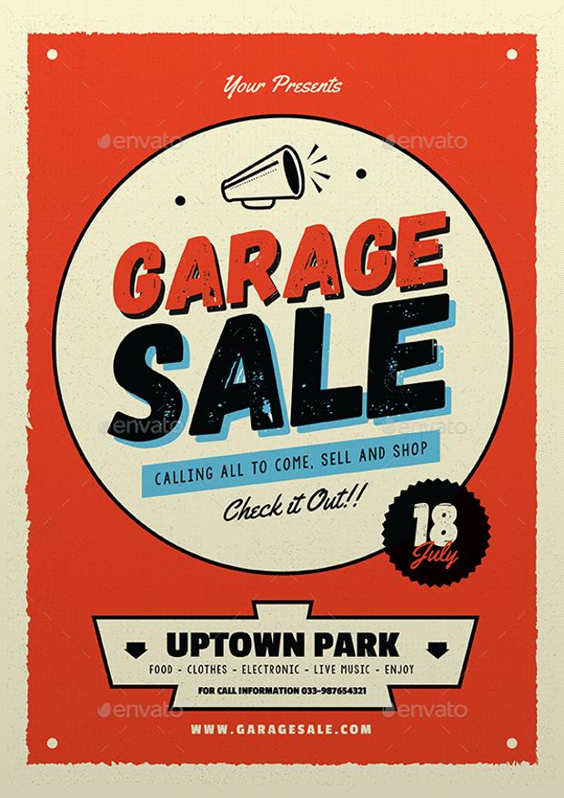 12 Garage Sale Flyer Templates  Printable PSD AI Vector EPS Format Download  Design Trends