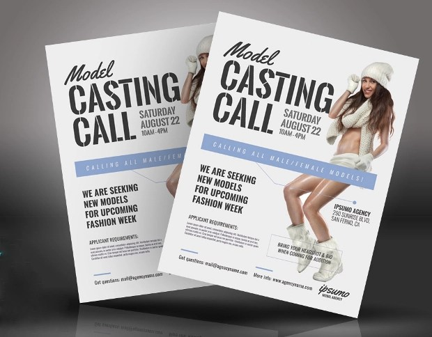 Casting Flyers Ideal Vistalist Co