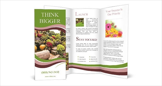 20 Garden Brochures Free PSD AI InDesign Vector EPS