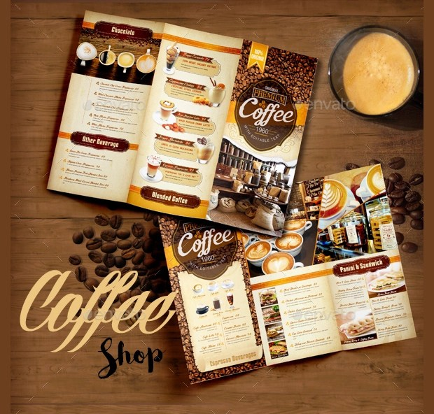 16 Coffee Shop Brochure Designs And Templates Design