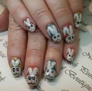 bunny nail art design ideas