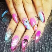 barbie nail art design ideas