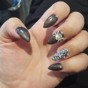spider web nail art design