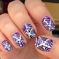 21+ Spider Web Nail Art Designs, Ideas