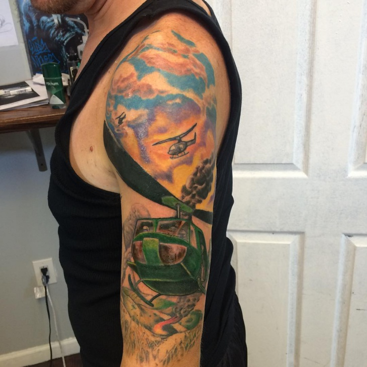 21 Helicopter Tattoo Designs Ideas  Design Trends