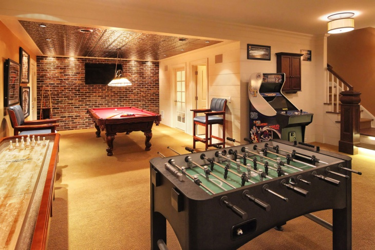 20+ Basement Game Room Designs, Ideas