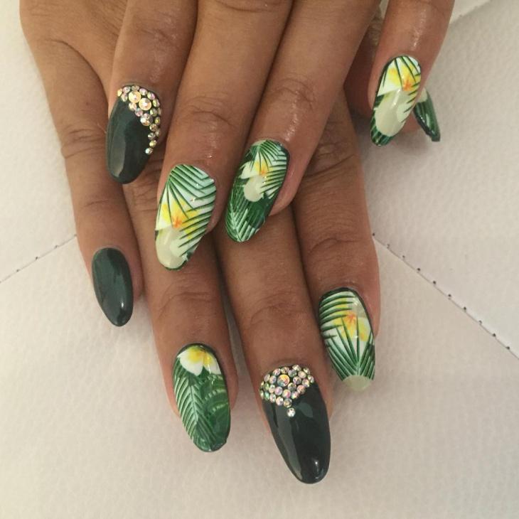 21+ Hawaiian Nail Art Designs, Ideas
