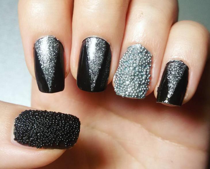 21+ Caviar Nail Art Designs, Ideas