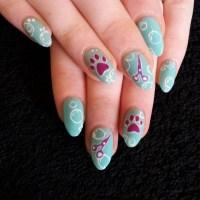 Puppy Paw Nail Art - Nail Ftempo