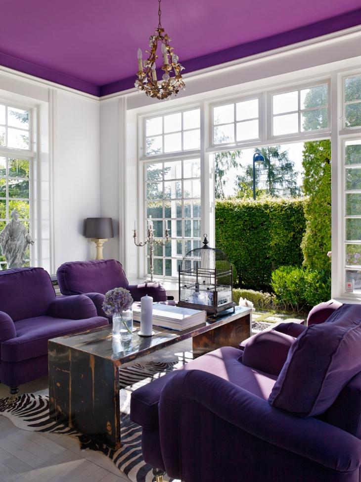 18 Purple Living Room Designs Ideas  Design Trends