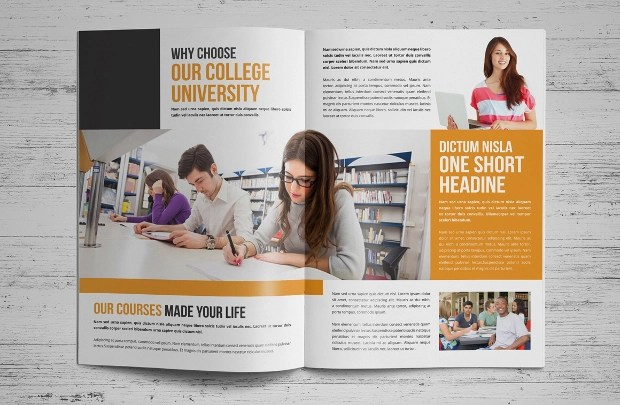 15 College Brochures Printable PSD AI InDesign