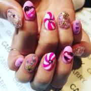 swirl nail art design ideas