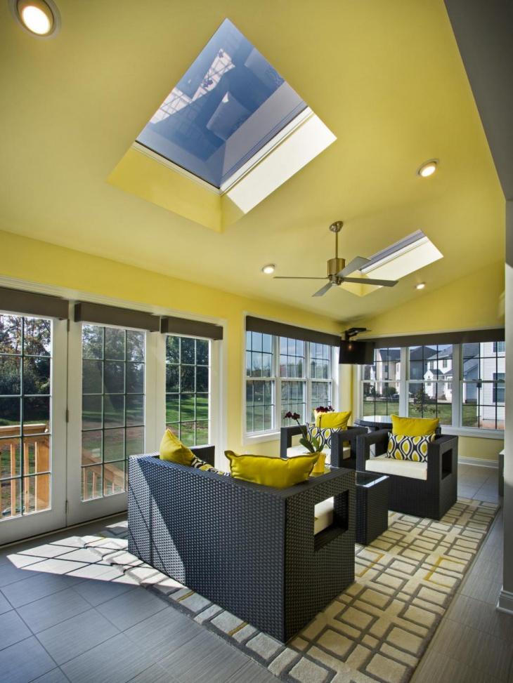 18+ Sunroom Ceiling Designs, Ideas