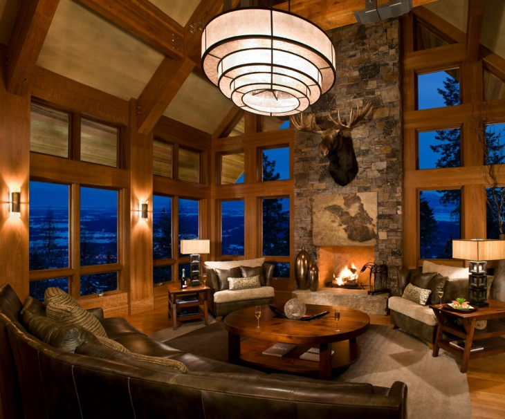 17 Chalet Living Room Designs Ideas Design Trends