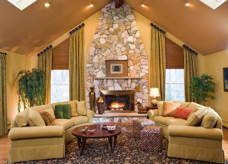 living room designs with brown sofas office desk in 17+ chalet designs, ideas   design trends ...
