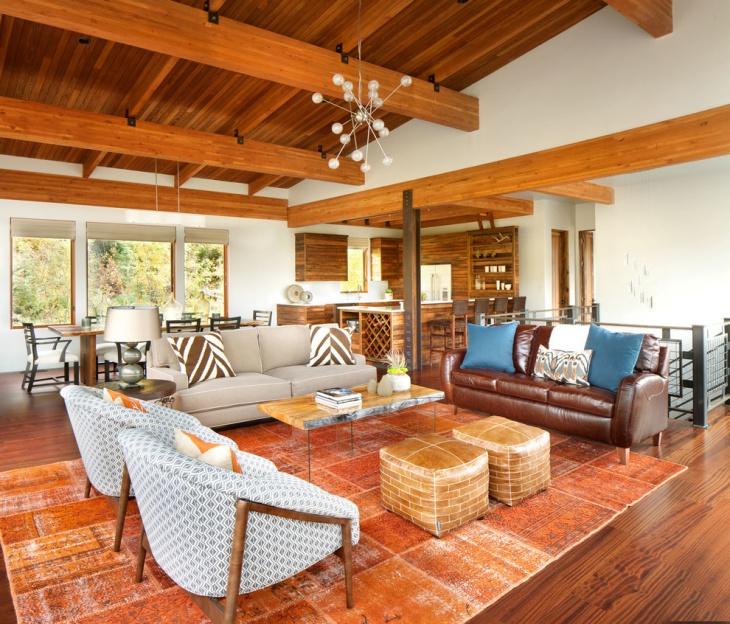 tan sofa decor bernhardt sofas on sale 17+ chalet living room designs, ideas | design trends ...