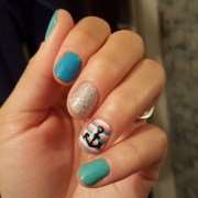 anchor nail art design ideas