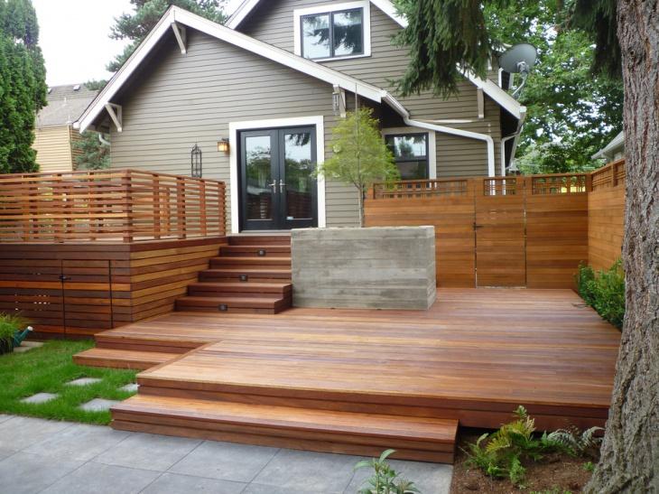 20+ Ground Level Deck Designs, Idea