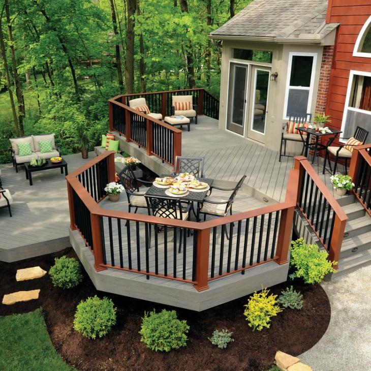 20+ Ground Level Deck Designs, Idea  Design Trends
