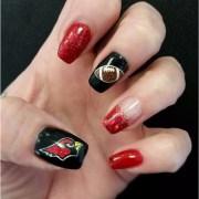 21 football nail art design