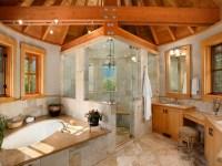18+ Vaulted Ceiling Bathroom Designs, Ideas | Design ...