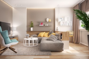 living idea formal deco designs taupe yellow interior open rooms walls interieur wohnzimmer sejour designer accent designing common premium gray