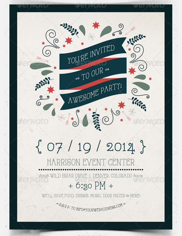 22 Best Collection of Invitation Flyers  PSD Word AI