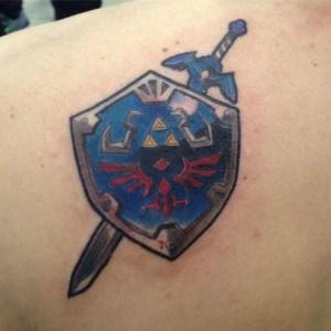 zelda tattoo shield designs drawing bright