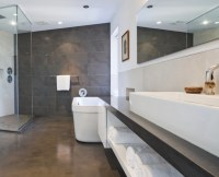 17+ Concrete Bathroom Floor Designs, Ideas | Design Trends ...