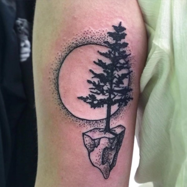 20 Tree And Moon Tattoo Ideas And Designs