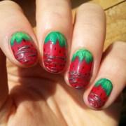 strawberry nail art design