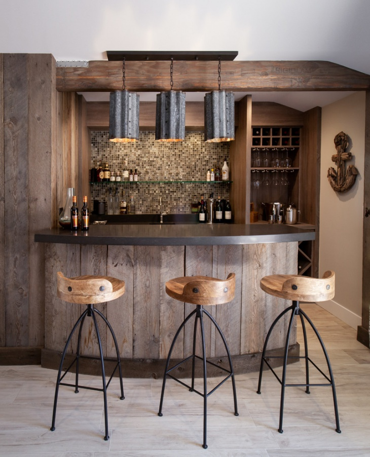 17 Rustic Home Bar Designs Ideas  Design Trends