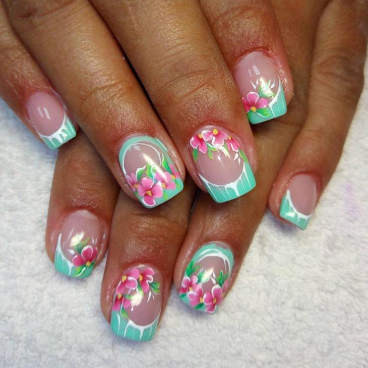 21+ Flower Nail Art Designs, Ideas