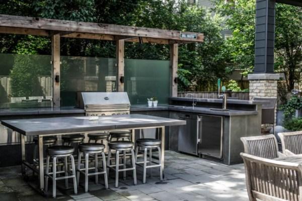 l shaped outdoor kitchen 17+ Outdoor Kitchen Island Designs, Ideas | Design Trends
